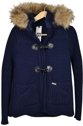 Bark Blue Wool Coat for Women