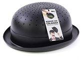 Bowler Hat Kitchen Colander Strainer, Black, for Pasta, Fruits and Vegetables by doiy