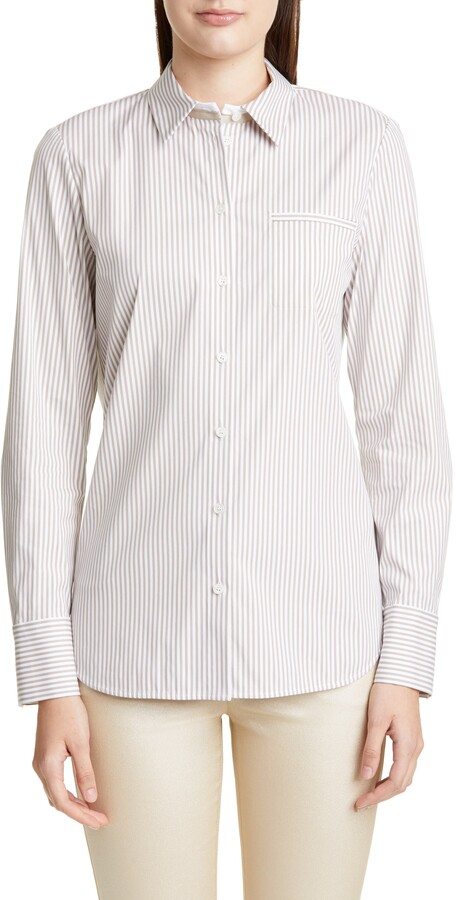 Lafayette 148 New York Paget Courtland Stripe Blouse