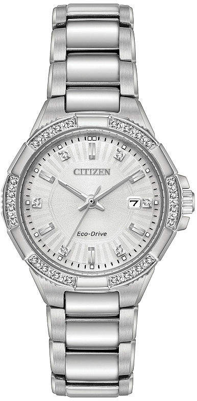 Citizen Womens Silver Tone Bracelet Watch-Ew2460-56a