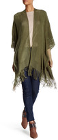 Max Studio Fringed Blanket Sweater