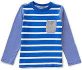 Joules Little Boys 3-6 Oscar Striped Patch-Pocket Top