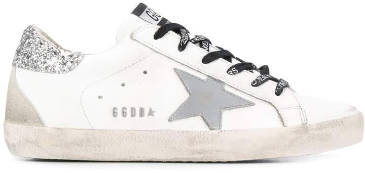 Golden Goose Superstar glittered-star sneakers