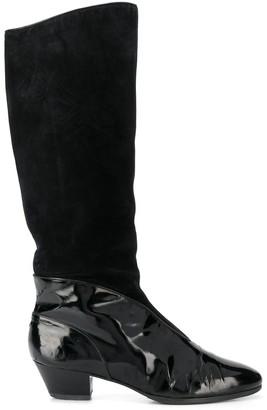 Salvatore Ferragamo Pre Owned 1990s Panelled Boots