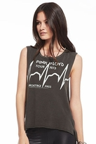 Chaser LA Backstage Pass Pink Floyd Muscle Crop in Vintage Black