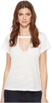 LnA Short Sleeve Cut Out V Women's Clothing