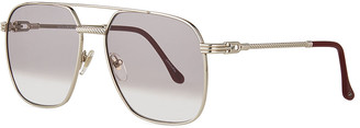 Vintage Frames Company Men's Narcos White Gold-Plated Gradient Sunglasses