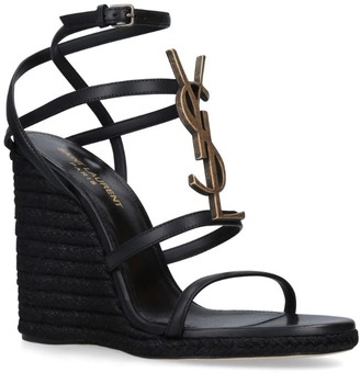 Saint Laurent Cassandra Wedge Espadrilles 110