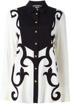 Fausto Puglisi contrast bib shirt - women - Silk/Acetate - 40