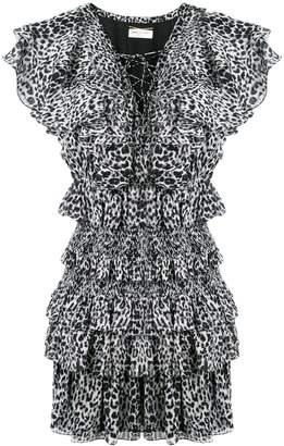 Saint Laurent tiered dress