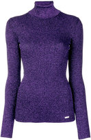 DSQUARED2 lurex turtle neck knit - women - Cotton/Polyester/Viscose - S