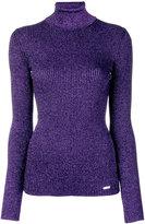 DSQUARED2 lurex turtle neck knit - women - Cotton/Viscose/Polyester - XS