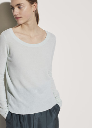 Vince Cashmere Double Scoop Neck Pullover