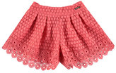Mayoral Pleated Lace Shorts, Apricot, Size 3-7
