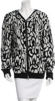 Baja East Patterned Hooded Sweater