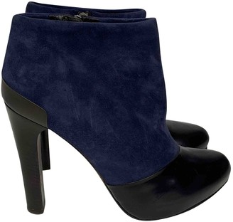Fendi Navy Suede Ankle boots