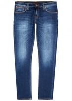 Nudie Jeans Long John Dark Blue Skinny Jeans