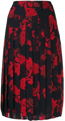 Tory Burch Paisley Pleated Skirt