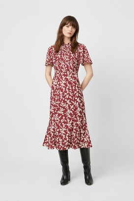 French Connection Bruna Light Twist Neck Dress