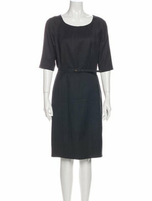 Oscar de la Renta Wool Knee-Length Dress Wool
