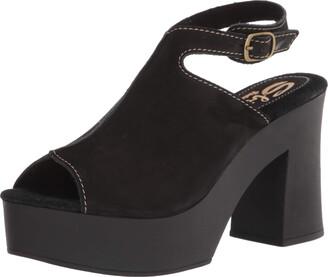 Sbicca Women's Abbeyville Peep Toe Platform Sandal Black