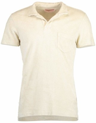 Orlebar Brown Terry Towelling Pebble Tailored Fit Polo Shirt