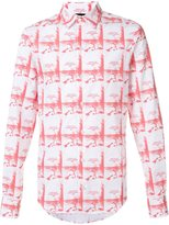 Hood by Air printed button down shirt - men - Cotton - S