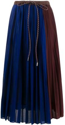 Moncler Colour-Block Pleated Skirt