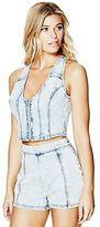 G by Guess GByGUESS Women's Zip-Up Denim Vest