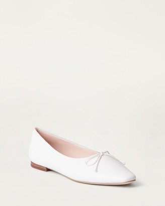 Loeffler Randall Georgie Ballet Flat White