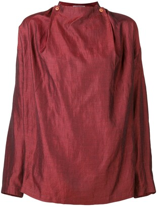 Issey Miyake Pre-Owned 1980's collarless shirt