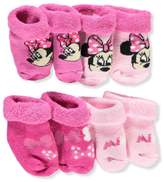 Disney Minnie Mouse Baby Girls' 4-Pack Booties