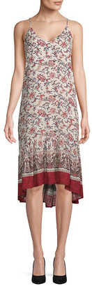 Moon River Floral Camisole Midi Dress