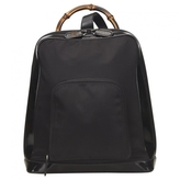 Gucci Black Synthetic Backpack Bamboo