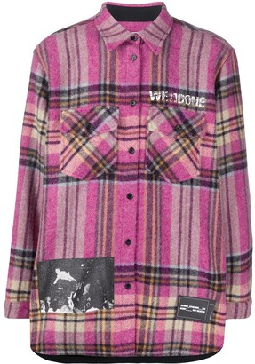 we11done Plaid Flannel Shirt