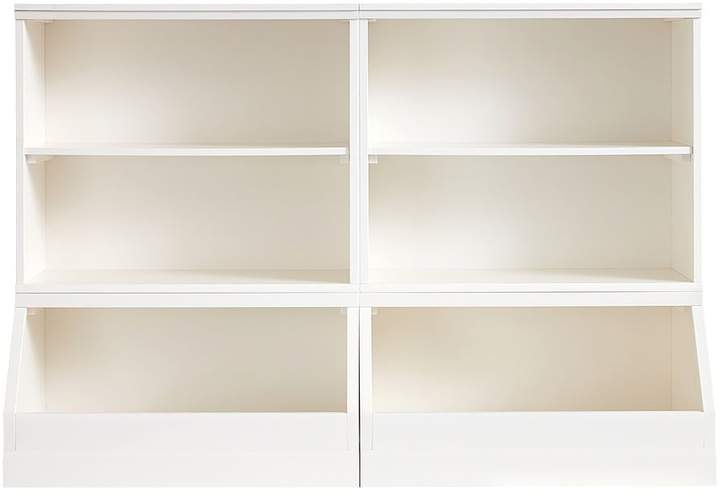 Cameron 2 Bookcase Cubby And 2 Market Bin Base Simply White