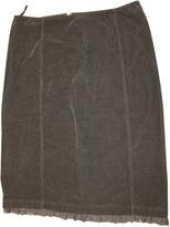 Miu Miu Green Cotton Skirt