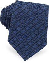 Moschino Print Silk Jacquard Tie