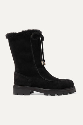 Jimmy Choo Buffy Shearling-lined Suede Boots - Black