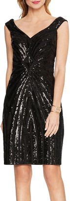 Vince Camuto Off-the-shoulder Sequin Dress