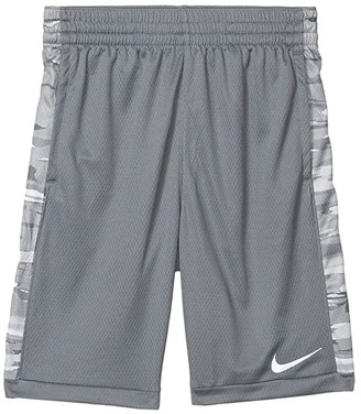 Nike Trophy All Over Print Shorts (Big Kids) (Smoke Grey/White) Boy's Shorts
