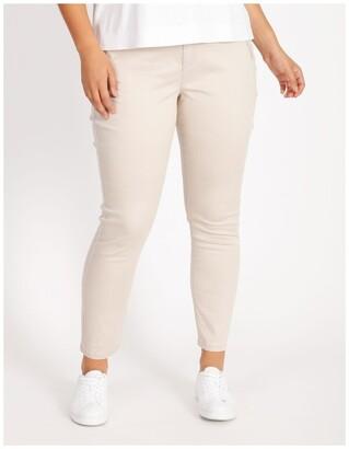 Basque Polished Slim Leg Jean