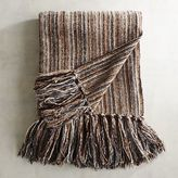 Pier 1 Imports Ashbury Neutral Striped Chenille Throw