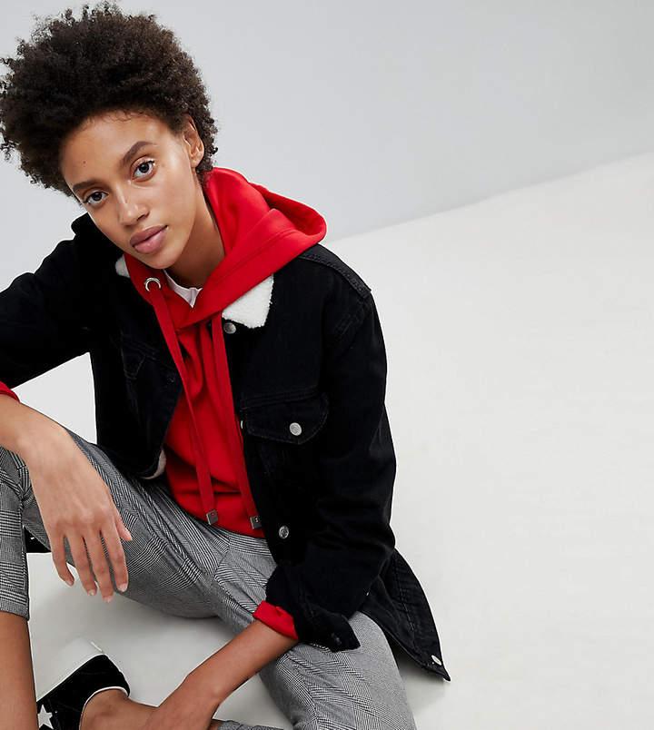 2cf28f606a5 Faux Fur Denim Jacket - ShopStyle