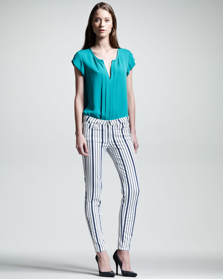 Joie Nailah Striped Stretch Jeans