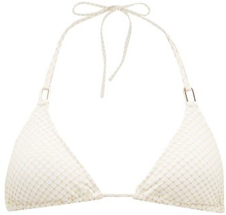 Melissa Odabash Cancun Embroidered Triangle Bikini Top - White Multi