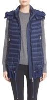 Moncler Women's Amarante Water Resistant Ruffle Hem Down Puffer Vest