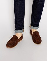 Asos Loafers In Suede With Fringe Tassel
