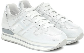 Hogan H222 metallic leather sneakers