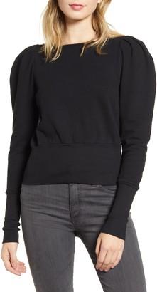 AG Jeans Walker Puff Shoulder Sweatshirt